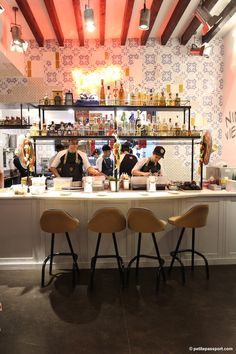 Nino Viejo Barcelona, the brand new restaurant of Albert Adria and Paco Mendez (former El Bulli) in Barcelona by Petite Passport Restaurant Design, Taco Restaurant, Luxury Restaurant, Restaurant Branding, Restaurant Ideas, Barcelona Food, Barcelona Restaurants, Barcelona Chair, Mexican Bakery