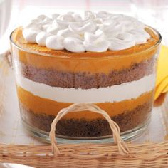 pumpkin gingerbread trifle for Thanksgiving.