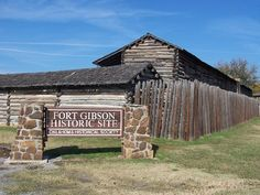 You'll definitely want to visit the Fort Gibson Historical Site when visiting the town. You can see several original buildings from the 1800s, along with a reconstruction of the earliest log fort.