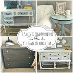 DIY:: Best places to find furniture to re-do {From free to cheap!}- lots of tips and tricks on finding furniture ! To paint and makeover the way you want it ! And this blog also has other great tips & tutorials on the simple ways to re-do furniture!