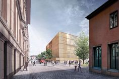 King of Sweden Publicly Expresses Concern Over Chipperfield's Nobel Center Plans for Stockholm,Revised Design (view from the street). Image © David Chipperfield Architects