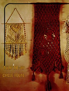 Macrame Pattern Book - Wall Art Macrame Plant Hanger Patterns, Macrame Patterns, Macrame Cord, Macrame Jewelry, Jewelry Necklaces, Pot Hanger, Arabic Design, Hanging Wall Art, Wall Hangings