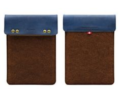 Gary & Ghost iPad Mini / Samsung Note 8.0 / Google Nexus 7 Wool Felt & Leather Case Sleeve Pouch with Stand Up Feature - Brown Wool Felt with Blue Leather by D-Park, http://www.amazon.com/dp/B00EMZ3Y3E/ref=cm_sw_r_pi_dp_.6nesb1METTM9