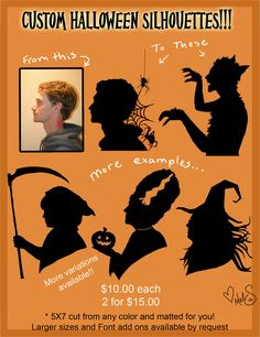 Custom Halloween Silhouettes by Miss-Melis