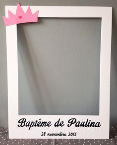 Cadre photobooth baptême ou naissance fille par crea-graphic