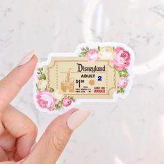 Disneyland Admission Ticket Sticker/ Retro Floral Disney | Etsy Disneyland Birthday, Disneyland Tickets, Admission Ticket, Cute Laptop Stickers, Food Stickers, Disney Aesthetic, Disney Diy, Disney Theme, Stickers