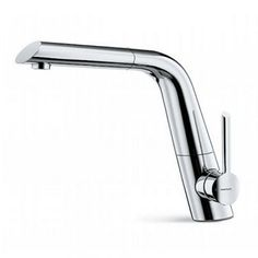 Newform X-Touch Monobloc With Pull-Out Swivel Spout And Side Lever Available in Chrome or Brushed Steel 64415