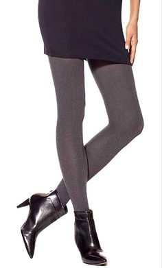HUE Super Opaque Non Control Top Tights - See more tights at www.fashion-tights.net #tights #pantyhose #hosiery #nylons #fashion #legs #legwear #advertising #influencer #collants