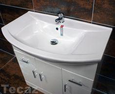 Vanity Unit inc Ceramic Basin Sink Bathroom Cupboard Storage White Gloss Basin Sink Bathroom, Bathroom Storage, White Sink, Corner Unit, Cupboard Storage, Vanity Units, White Brand, Worcester, The Unit