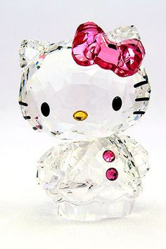 Swarovski crystal Hello Kitty---- a gift from miss kitty white before you go. Sanrio Hello Kitty, Hello Kitty Items, Hello Kitty Stuff, Miss Kitty, Hello Kitty Collection, Here Kitty Kitty, My New Room, Just In Case, Swarovski Crystals