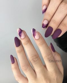 Mauve color nails are something unbelievably trendy in the world of modern nail art What is more, the shade itself is anything but ordinary, and that simply makes you try it out! All the best mauve colored nail art designs gathered in one place ju - # Elegant Nail Designs, Elegant Nails, Stylish Nails, Trendy Nails, Nail Art Designs, Dark Nail Designs, Easy Designs, Purple Nail Designs, Nagel Hacks