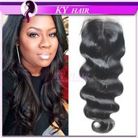 100 Human Hair Malaysian Body Weave Lace Closure Malaysian Body Wave Lace Closure Natural Black Hair Extensions