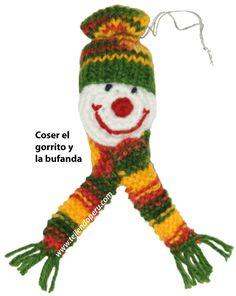 hombre de nieve crochet