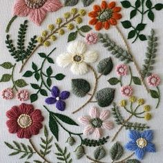 yumiko higuchi wool stitch flowers