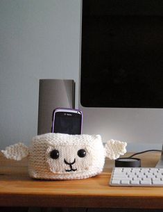 sheep head cell phone holder