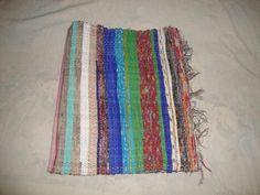 Handwoven Thick Yoga Mat Recycled Chindi Cotton Rag Rug Floor Runner Carpet  Q034u2026