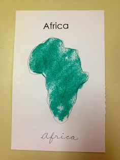 To the Lesson!: Another 'Africa' Lesson: Sand Map