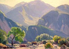 hanson puthuff landscape oil paintings | Hanson Puthuff (1875 - 1972). Verdugo. Oil on Board. 12 x 16 in.