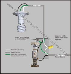 22 Best Light switch wiring images | Light switch wiring ... Electrical Switches Wiring on