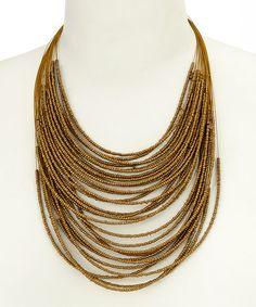 Bronze Multistrand Beaded Necklace