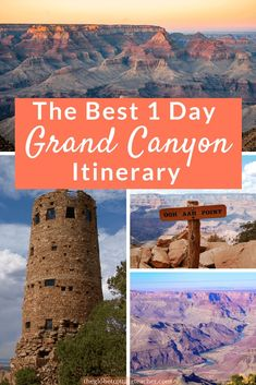 Planning a trip from Flagstaff to the Grand Canyon? This complete Grand Canyon day trip guide has everything you need to plan one day in the Grand Canyon! Grand Canyon Hiking, Grand Canyon Vacation, Visiting The Grand Canyon, Grand Canyon South Rim, Best Grand Canyon Tours, Grand Canyon Things To Do, Grand Canyon Arizona, Flagstaff Arizona, Arizona Road Trip