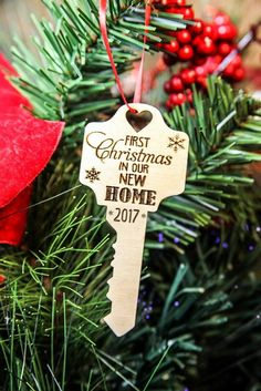 First Xmas Home Key Ornament