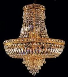 The glass chandelier is transparent, which reflects light and creates a dazzling effect at night.