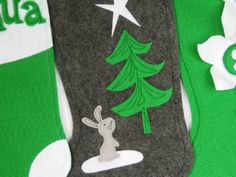 Felt Christmas Stocking  Wish Upon a Star by stitcholicious, $18.00