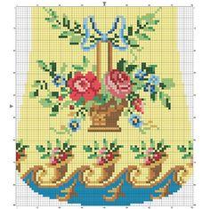 Cross Stitch Rose, Cross Stitch Borders, Cross Stitch Flowers, Cross Stitch Charts, Cross Stitch Embroidery, Cross Stitch Patterns, Vintage Cross Stitches, Needlepoint Patterns, Bead Crochet