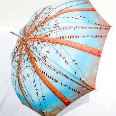 Photo Umbrella Blue Birds