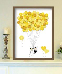Gästeplakat, Ballon // guest poster, balloons by foryoudesign ist DEIN design via DaWanda.com