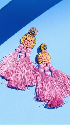 the Flamingo Statement  Earrings / Coralie Reiter Jewelry