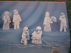 VTG Crochet Patterns Goose Candle Covers Antique Lamps Angel Tree Topper Dolls #ProvoCrafts