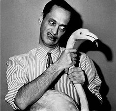 john_waters and his pink flamingo