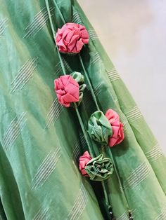 Saree Tassels Designs, Saree Kuchu Designs, Blouse Designs Silk, Embroidery On Kurtis, Kurti Embroidery Design, Jhumar, Kurta Neck Design, Cloth Flowers, Beaded Choker