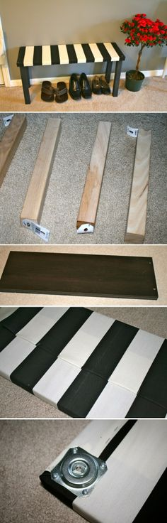 Fun to Try: DIY Wooden Crafts DIY little wooden bench