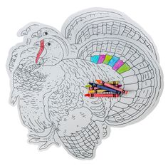Give The Youngsters Coloring Place Mats To Decorate Before Or During Thanksgiving Dinner