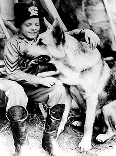 Corporal Lee Duncan rescued Rin Tin Tin when he was a puppy from a bombed out German kennel near the end of World War I in 1918 and took the dog home to California. When a producer spotted the dog jumping over 10 feet at a dog show, Rin Tin Tin went on to star in movies and radio adventures before he died in 1932.