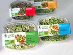 Design emballage alimentaire  Vertigo micro-pousse #packaging