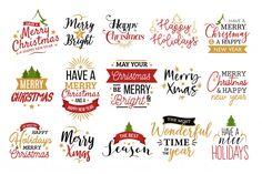Christmas typography set Free Vector Sports News, 1, Christmas Christmas