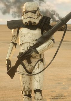 ArtStation - Sandtroopers, Tom Isaksen This is a enlisted strormtrooper (because of the rank)
