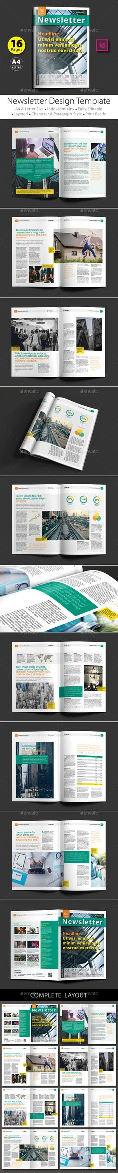 16 Pages Newsletter Design Template V.2 - Newsletters Print Template InDesign INDD. Download here: http://graphicriver.net/item/16-pages-newsletter-design-template-v2/16560539?s_rank=872&ref=yinkira