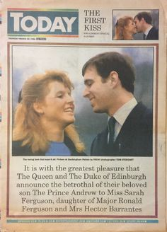 Today Newspaper March 1986 Engagement Special Prince Andrew & Fergie