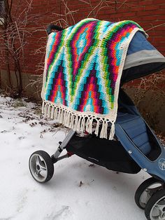Modern Bohemian Baby Blanket crochet pattern by Susan E. Kennedy
