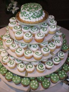 Nothing better than a white cupcake tree for all those wedding cakes.