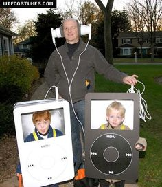 iPod Costumes - great family idea. HA!