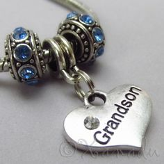 Grandson European Birthstone Trio For Large Hole Charm Bracelets