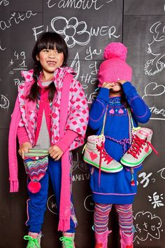 Mim-Pi Winter 2013 Urban ethnic style, pink and blue!