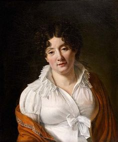 Francois Henri Mulard http://www.invaluable.com/artist/mulard-francois-henri-lyount1127. I love that her expression gives her the look of a real woman rather than the more doll-like faces we're used to in Regency portraits.