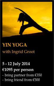 Yin Yoga Retreat - Yin Yoga allows the body to pull you into relaxation.  A deeply nourishing, restful and nurturing retreat for body, mind and soul